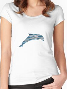 Wave Dolphin Women's Fitted Scoop T-Shirt