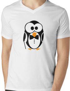 Sir Penguin Mens V-Neck T-Shirt