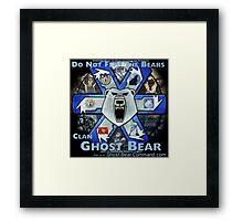 Clan Ghost Bear Recruitment Poster Framed Print