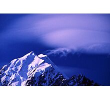 Cloud Formations over Mount Cook Photographic Print