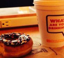 Saturday at Dunkin Donuts  Sticker