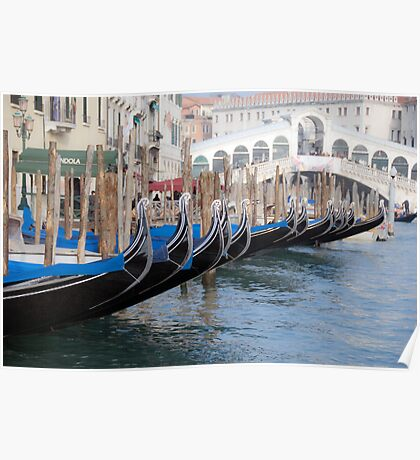 Venice's gondolas  Poster