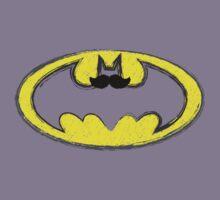 Classy Mustache Batman by snailkeeper