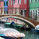 burano while its raining by milena boeva