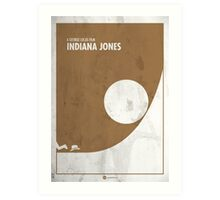 Indiana Jones Minimal Film Poster Art Print