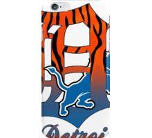 Detroit lions tigers mashup iPhone Case/Skin