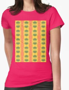 green and orange geo Womens Fitted T-Shirt