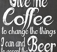 Coffee to Beer by geekchicprints