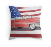 52 Cadillac Convertible Throw Pillow