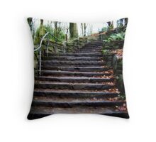 Stepping up... Throw Pillow