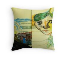 self portrait back to the future Throw Pillow