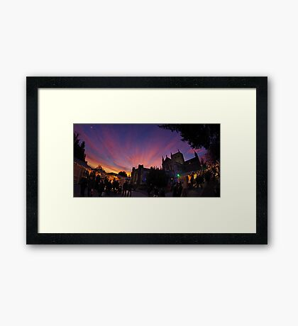 St Albans has Christmas Markets this year Framed Print