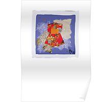 red kimono Poster