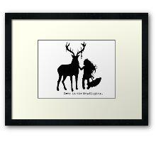 Deer in the Headlights Framed Print