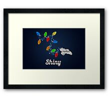 Tis the season to be Shiny Framed Print