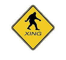 Bigfoot Crossing Sign  Photographic Print