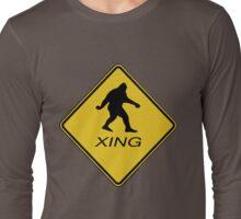 Bigfoot Crossing Sign  Long Sleeve T-Shirt