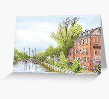 Plein Air Moleskine 2013 Delaware City Delaware Greeting Card