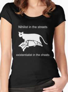 Nihilist in the streets Women's Fitted Scoop T-Shirt