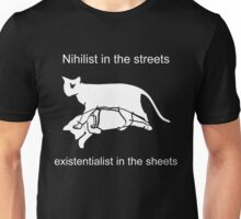 Nihilist in the streets Unisex T-Shirt