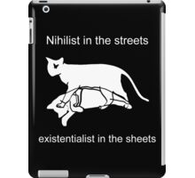 Nihilist in the streets iPad Case/Skin