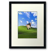 Darth vader riding a cat Framed Print