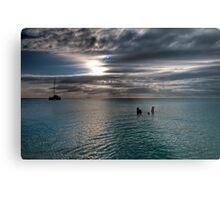 Caribbean sea view Metal Print