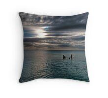 Caribbean sea view Throw Pillow