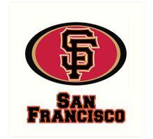 San francisco Giants 49ers mash up Art Print
