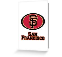 San francisco Giants 49ers mash up Greeting Card