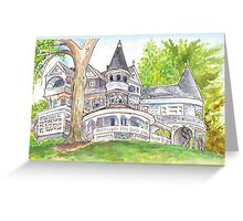 Plein Air Moleskine 2013 Auburn Heights Delaware Greeting Card