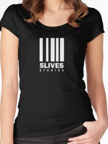 5 Lives Studios White Women's Fitted Scoop T-Shirt