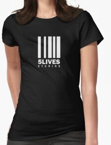 5 Lives Studios White Womens Fitted T-Shirt