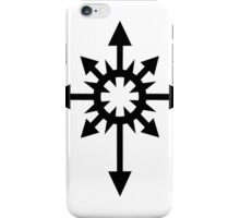 Warhammer 40k Chaos Black Legion Symbol iPhone Case/Skin