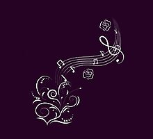 Sweeping Music Notes - Purple by musaique