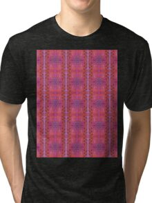 purple and blue square spirals Tri-blend T-Shirt
