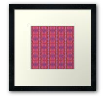 purple and blue square spirals Framed Print