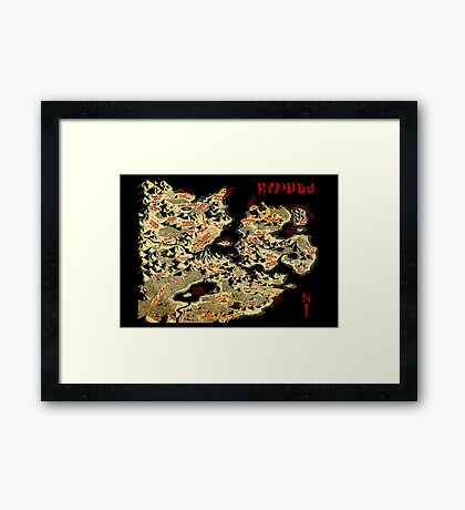 Map of Hyrule Framed Print
