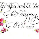 If you want to be happy Tolstoy quote  by Melissa Goza