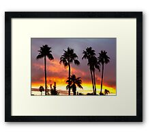 Tropical Colorful Storm Framed Print
