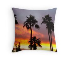 Tropical Colorful Storm Throw Pillow