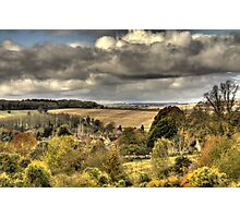 Overlooking Charlbury  Photographic Print