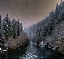 McKenzie River ~ Snow ~ by Charles & Patricia   Harkins ~ Picture Oregon
