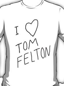 """I ❤ Tom Felton"" replica tee T-Shirt"