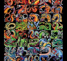 Fifty Dragons (Half of 100) by ShaunyRedComet