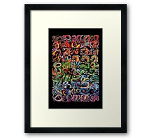 Fifty Dragons (Half of 100) Framed Print