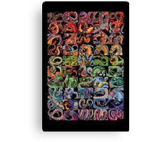 Fifty Dragons (Half of 100) Canvas Print