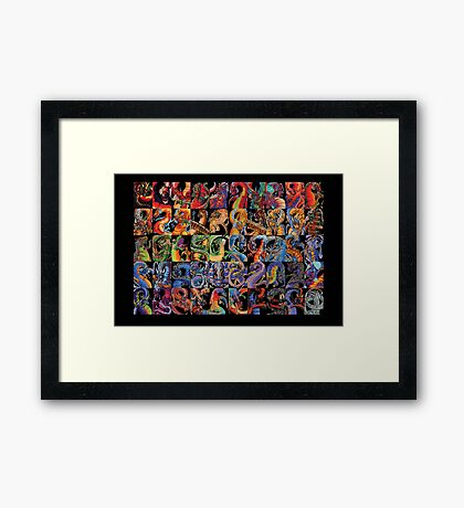 Fifty Dragons (the Other Half of 100) Framed Print