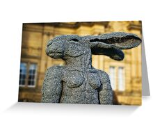 The Lady Hare Greeting Card