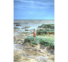 Bottle on the Beach Photographic Print